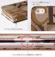 画像2: LG JOJO L-02K ケース 保護フィルム 付き au JOJO L-02K カバー カード収納 手帳 手帳型 JOJO L-02K 携帯ケース 携帯カバー おしゃれ デコ 耐衝撃 可愛い ポリウレタン スマホケース JOJO L-02K ART(Brown) (2)