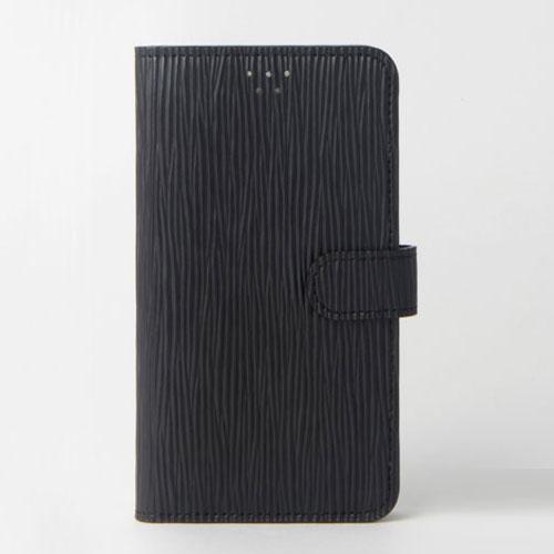 画像1: LG JOJO L-02K ケース 保護フィルム 付き au JOJO L-02K カバー カード収納 手帳 手帳型 JOJO L-02K 携帯ケース 携帯カバー おしゃれ デコ 耐衝撃 可愛い クラシック スマホケース JOJO L-02K CLASSIC(Black)