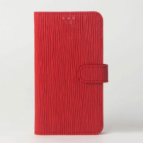 画像1: LG JOJO L-02K ケース 保護フィルム 付き au JOJO L-02K カバー カード収納 手帳 手帳型 JOJO L-02K 携帯ケース 携帯カバー おしゃれ デコ 耐衝撃 可愛い クラシック スマホケース JOJO L-02K CLASSIC(Red)