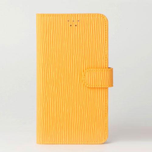 画像1: LG JOJO L-02K ケース 保護フィルム 付き au JOJO L-02K カバー カード収納 手帳 手帳型 JOJO L-02K 携帯ケース 携帯カバー おしゃれ デコ 耐衝撃 可愛い クラシック スマホケース JOJO L-02K CLASSIC(Yellow)