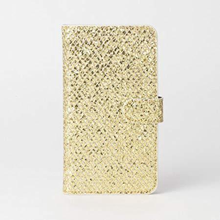 画像1: LG JOJO L-02K ケース 保護フィルム 付き au JOJO L-02K カバー カード収納 手帳 手帳型 JOJO L-02K 携帯ケース ラメ付きカバー おしゃれ デコ 耐衝撃 可愛い 合成レザー スマホケース JOJO L-02K TWINKEL(Gold)