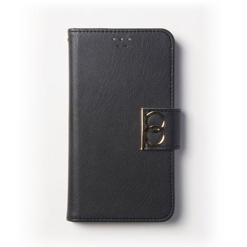 画像1: LG JOJO L-02K ケース 保護フィルム 付き au JOJO L-02K カバー カード収納 手帳 手帳型 JOJO L-02K 携帯ケース 携帯カバー おしゃれ デコ 耐衝撃 可愛い 合成レザー スマホケース JOJO L-02K VINTAGE(Black)