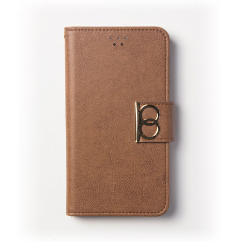 画像1: LG JOJO L-02K ケース 保護フィルム 付き au JOJO L-02K カバー カード収納 手帳 手帳型 JOJO L-02K 携帯ケース 携帯カバー おしゃれ デコ 耐衝撃 可愛い 合成レザー スマホケース JOJO L-02K VINTAGE(Brown)