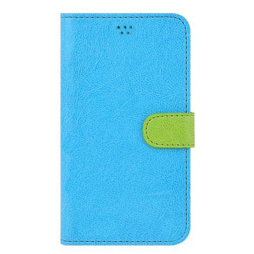 画像1: LG JOJO L-02K ケース 保護フィルム 付き au JOJO L-02K カバー カード収納 手帳 手帳型 JOJO L-02K 携帯ケース 携帯カバー おしゃれ デコ 耐衝撃 可愛い 合成レザー スマホケース JOJO L-02K VIVID(Mint)