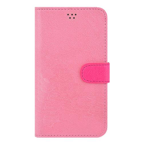 画像1: LG JOJO L-02K ケース 保護フィルム 付き au JOJO L-02K カバー カード収納 手帳 手帳型 JOJO L-02K 携帯ケース 携帯カバー おしゃれ デコ 耐衝撃 可愛い 合成レザー スマホケース JOJO L-02K VIVID(Pink)