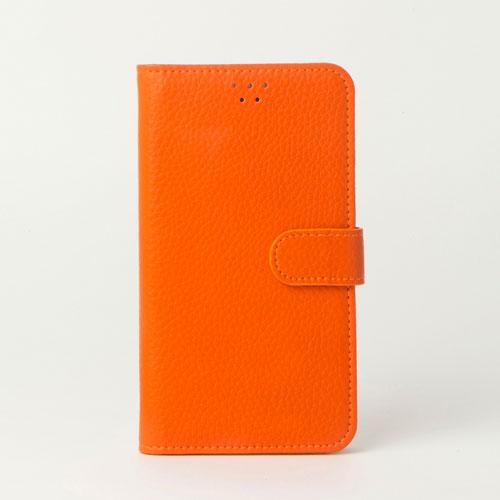 画像1: LG JOJO L-02K ケース 保護フィルム 付き au JOJO L-02K カバー カード収納 手帳 手帳型 JOJO L-02K 携帯ケース 携帯カバー おしゃれ デコ 耐衝撃 可愛い 合成レザー スマホケース JOJO L-02K COLORFUL(Orange)