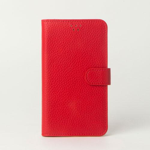 画像1: LG JOJO L-02K ケース 保護フィルム 付き au JOJO L-02K カバー カード収納 手帳 手帳型 JOJO L-02K 携帯ケース 携帯カバー おしゃれ デコ 耐衝撃 可愛い 合成レザー スマホケース JOJO L-02K COLORFUL(Red)