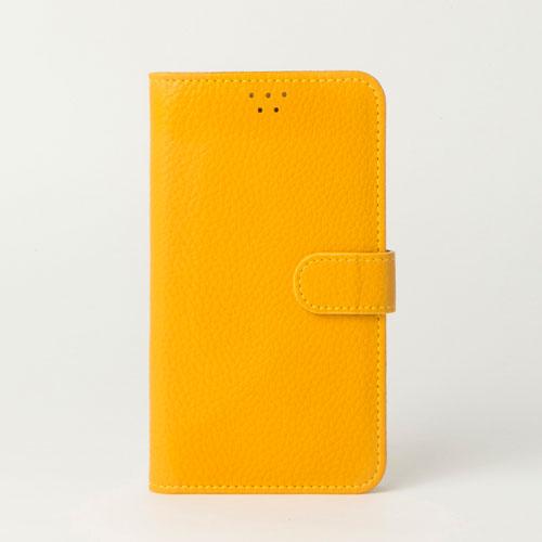 画像1: LG JOJO L-02K ケース 保護フィルム 付き au JOJO L-02K カバー カード収納 手帳 手帳型 JOJO L-02K 携帯ケース 携帯カバー おしゃれ デコ 耐衝撃 可愛い 合成レザー スマホケース JOJO L-02K COLORFUL(Yellow)