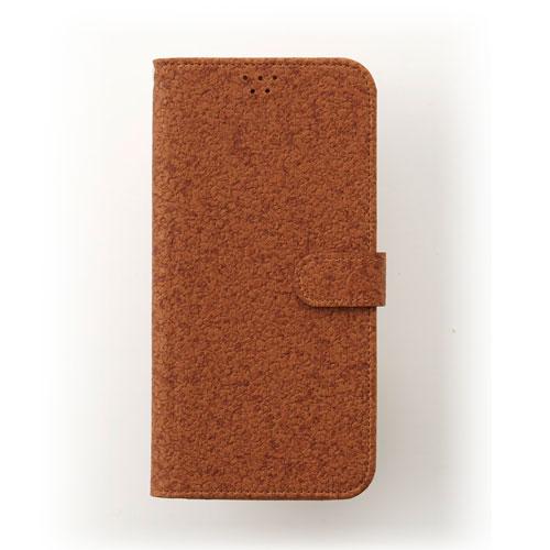 画像1: LG JOJO L-02K ケース 保護フィルム 付き au JOJO L-02K カバー カード収納 手帳 手帳型 JOJO L-02K 携帯ケース 携帯カバー おしゃれ デコ 耐衝撃 可愛い 合成レザー スマホケース JOJO L-02K CORK(Brown)