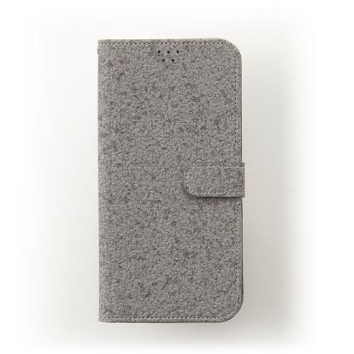 画像1: LG JOJO L-02K ケース 保護フィルム 付き au JOJO L-02K カバー カード収納 手帳 手帳型 JOJO L-02K 携帯ケース 携帯カバー おしゃれ デコ 耐衝撃 可愛い 合成レザー スマホケース JOJO L-02K CORK(Gray)