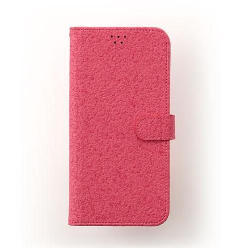 画像1: LG JOJO L-02K ケース 保護フィルム 付き au JOJO L-02K カバー カード収納 手帳 手帳型 JOJO L-02K 携帯ケース 携帯カバー おしゃれ デコ 耐衝撃 可愛い 合成レザー スマホケース JOJO L-02K CORK(Hotpink)
