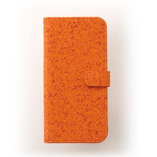 画像1: LG JOJO L-02K ケース 保護フィルム 付き au JOJO L-02K カバー カード収納 手帳 手帳型 JOJO L-02K 携帯ケース 携帯カバー おしゃれ デコ 耐衝撃 可愛い 合成レザー スマホケース JOJO L-02K CORK(Orange)