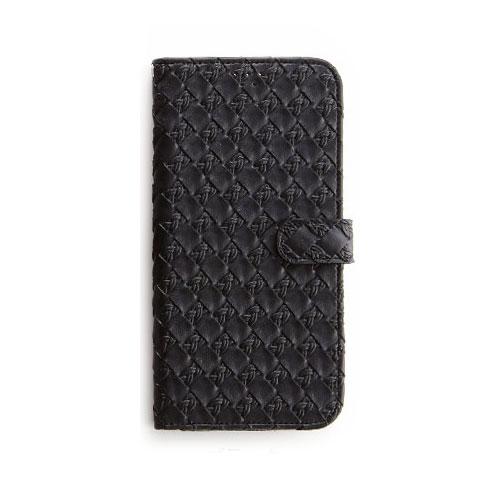 画像1: LG JOJO L-02K ケース 保護フィルム 付き au JOJO L-02K カバー カード収納 手帳 手帳型 JOJO L-02K 携帯ケース 携帯カバー おしゃれ デコ 耐衝撃 可愛い 合成レザー スマホケース JOJO L-02K MESH(Black)