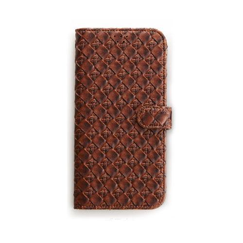 画像1: LG JOJO L-02K ケース 保護フィルム 付き au JOJO L-02K カバー カード収納 手帳 手帳型 JOJO L-02K 携帯ケース 携帯カバー おしゃれ デコ 耐衝撃 可愛い 合成レザー スマホケース JOJO L-02K MESH(Brown)